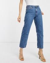 Asos Design DESIGN Florence authentic straight leg jeans in vintage midwash blue