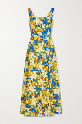 Borgo de Nor Camilla Printed Cotton-poplin Maxi Dress - Blue