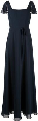 Marchesa Notte Bridal Flutter-Sleeve Bridesmaid Gown