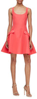 Carolina Herrera Sleeveless Flared Party Dress, Poppy