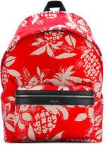 Saint Laurent pineapple print backpack - men - Nylon - One Size