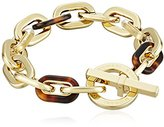Michael Kors Color Block Gold-Tone Lucite and Acetate Toggle Bracelet