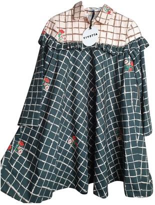 VIVETTA Multicolour Cotton Dress for Women