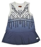 7 For All Mankind Little Girl's & Girl's Sequined Dip Dyed Peplum Tank