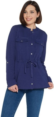 Denim & Co. Textured Knit Long-Sleeve Button Front Jacket