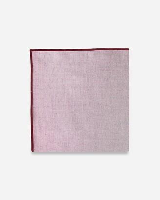 Express Pocket Square Clothing Merrow Trim Maroon Chambray Pocket Square