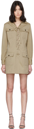Saint Laurent Beige Gabardine Saharienne Dress