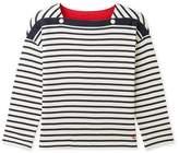Petit Bateau Girls 3/4-sleeved tube knit t-shirt with stripes