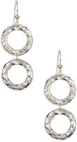 Simon Sebbag Sterling Silver Hammered Double Drop Earrings