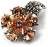 Avalaya Tiny CZ Flower Pin Brooch