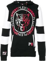 Plein Sport - logo print hoodie - men - Cotton - M