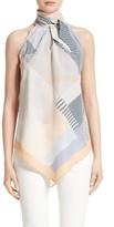 Lafayette 148 New York Women's Julisa Tie Neck Silk Blouse