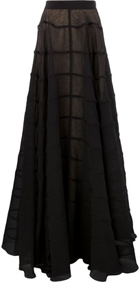 Maison Rabih Kayrouz Long Pleated Skirt