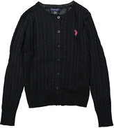U.S. Polo Assn. Black Button-Up Cardigan - Toddler & Girls
