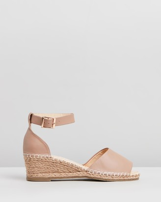 Human Premium - Women's Brown Sandals - Helene Leather Wedge Heels - Size 37 at The Iconic
