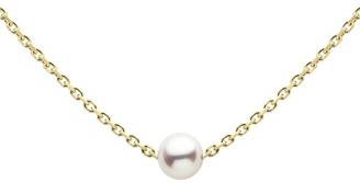 Redline 18ct Yellow Gold And Pearl Sensuelle Chain Necklace