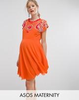 Asos SALON Embellished Skater Dress