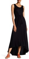 Spense Tie Hi-Lo Maxi Dress
