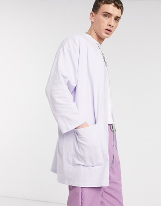 ASOS DESIGN lightweight jersey kimono cardigan in lilac