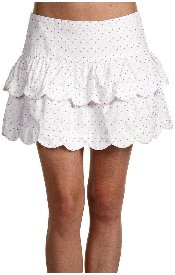 Lilly Pulitzer Cuddy Skirt (Resort White) - Apparel