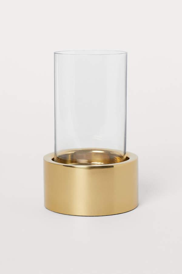H&M Metal & Glass Tea Light Holder