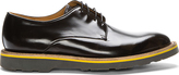Paul Smith Black Leather Yellow-Trimmed Bailey Derbys
