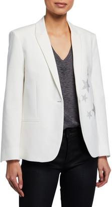 Zadig & Voltaire Vedy Star Single-Button Jacket
