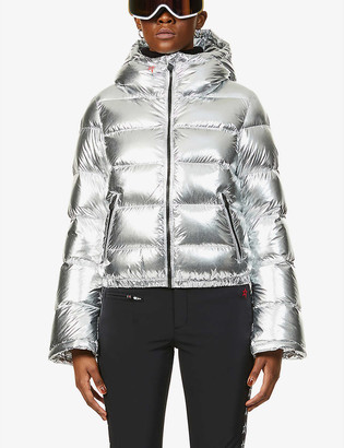 Perfect Moment Polar Flare hooded shell-down jacket