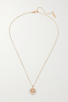 Messika Lucky Move 18-karat Rose Gold Diamond Necklace