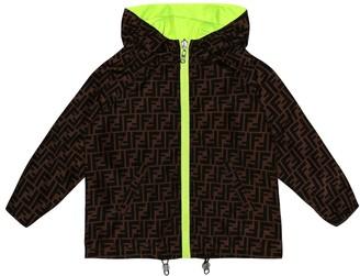 Fendi Kids Reversible rain jacket