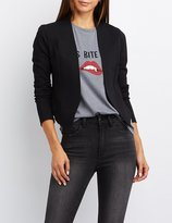 Charlotte Russe Collarless Cropped Blazer