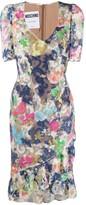 Moschino Frilled V-Neck Mini Dress