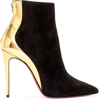 Christian Louboutin Delicotte 100 black suede ankle boots