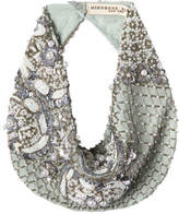 Mignonne Gavigan Le Charlot Beaded Scarf Necklace, Light Blue