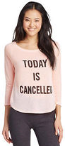 Aeropostale Lld 3/4 Sleeve Today Is Cancelled Sleep Tee Shirt