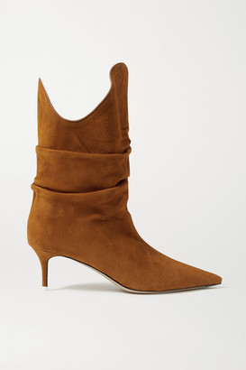 ATTICO Tate Suede Ankle Boots - Tan