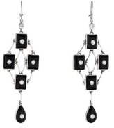 Moritz Glik Black Onyx and Diamond Chandelier Earrings