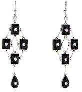 Moritz Glik Black Onyx and Diamond Chandelier Earrings