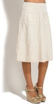 Sand Iris Linen Skirt