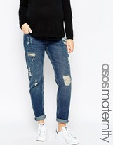 Asos Brady Boyfriend Jeans With Under The Bump Waistband