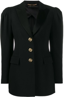 Versace puff-sleeve fitted blazer