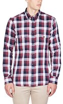 French Connection Men's Wilton County Pixel Double Button Down Shirt