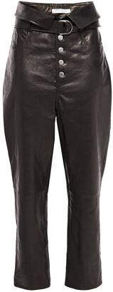 IRO Fekire Belted Leather Tapered Pants