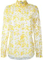 Carven flower embroidered sheer shirt