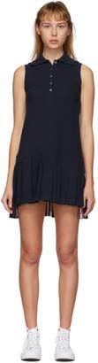 Thom Browne Navy Sleeveless Tennis Dress