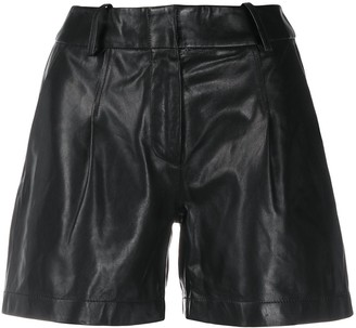 Arma High Rise Leather Shorts