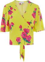 Warehouse Delia Floral Tie Back Top