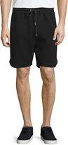 Helmut Lang Jersey Running Shorts, Black