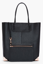 Alexander Wang Black pebbled patent leather Prisma Tote