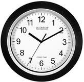 La Crosse Technology 404-1236 Analog Round Clock, 13.5-Inch, Black Frame